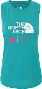Bluzka The North Face z okrągłym dekoltem bez rękawów w młodzieżowym stylu