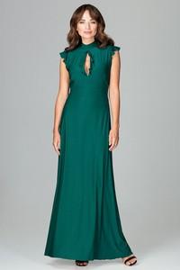 Zielona sukienka LENITIF maxi