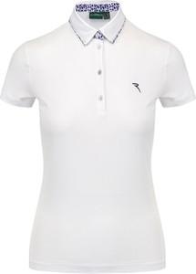 T-shirt Chervo z golfem z krótkim rękawem