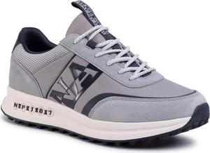 Buty sportowe Napapijri sznurowane z zamszu