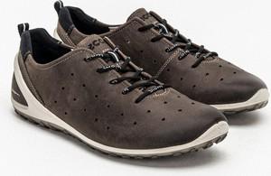 Brązowe buty sportowe Ecco sznurowane