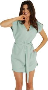 Sukienka Ivon z krótkim rękawem