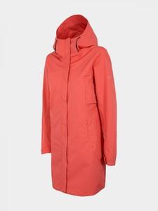 Czerwona kurtka Outhorn długa w sportowym stylu