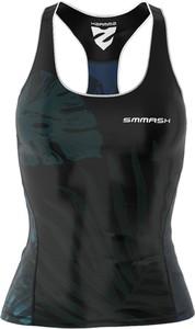 Czarny top Smmash z nadrukiem ze skóry ekologicznej