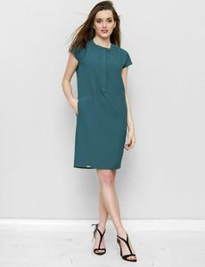 Zielona sukienka Freeshion z okrągłym dekoltem oversize