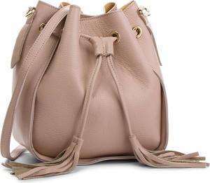 Różowa torebka Creole w stylu casual na ramię matowa