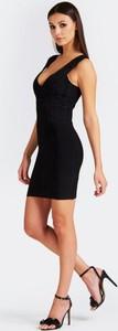 Czarna sukienka Guess by Marciano bez rękawów mini