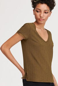 Zielona bluzka Reserved w stylu casual