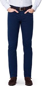 Granatowe spodnie LANCERTO z bawełny