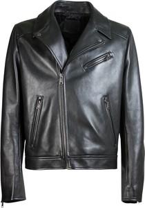 Czarna kurtka Prada ze skóry