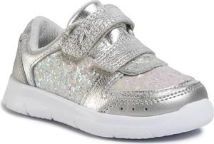 Srebrne buty sportowe dziecięce Clarks na rzepy