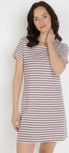 Sukienka born2be prosta w stylu casual z krótkim rękawem
