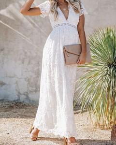 Sukienka Kendallme maxi w stylu boho z dekoltem w kształcie litery v