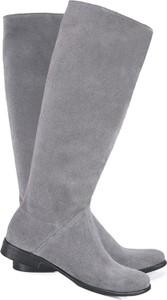 Kozaki Lafemmeshoes przed kolano w stylu casual na zamek