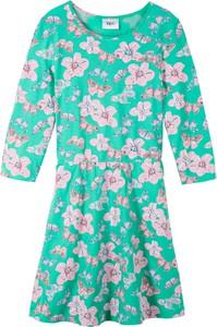 Zielona sukienka dziewczęca bonprix bpc bonprix collection