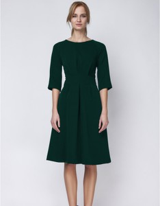 Zielona sukienka Lanti z długim rękawem midi