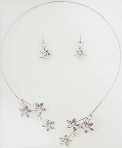 eb600eeb03e6 komplety biżuterii ślubnej swarovski. Izmael.eu Zestaw Flowers SWAROVSKI -  Srebrny
