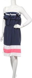 Niebieska sukienka Allegra K bez rękawów z okrągłym dekoltem