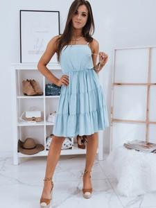 Niebieska sukienka Dstreet