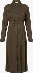 Sukienka Mama Licious w stylu casual z kołnierzykiem z długim rękawem