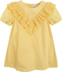 Żółta sukienka dziewczęca Cool Club z bawełny