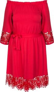 Sukienka KARKO z długim rękawem dla puszystych hiszpanka