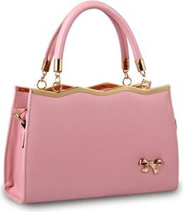 Różowa torebka Cikelly średnia matowa do ręki