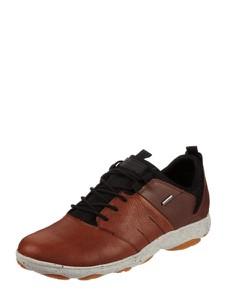 Brązowe buty sportowe Geox w sportowym stylu