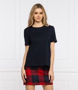 Czarny t-shirt Tommy Hilfiger z okrągłym dekoltem w stylu casual