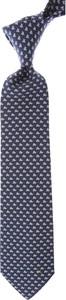 Niebieski krawat Salvatore Ferragamo z jedwabiu