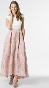 Różowa sukienka Swing z dekoltem w kształcie litery v