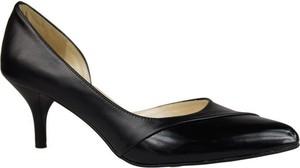 Czarne szpilki Jankobut ze spiczastym noskiem w stylu klasycznym ze skóry