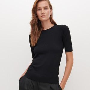 Bluzka Reserved w stylu casual z krótkim rękawem z okrągłym dekoltem