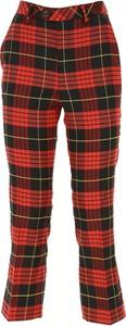 Czerwone spodnie Twin Set By Simona Barberi z bawełny