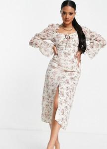 Sukienka Missguided z długim rękawem maxi