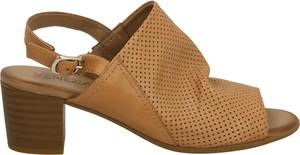 Brązowe sandały Venezia ze skóry