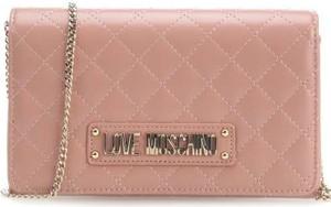 ae94522e35fd4 Różowa torebka Love Moschino na ramię ze skóry