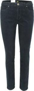 Granatowe jeansy Lee ze sztruksu w stylu casual