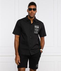 Czarna koszula Versace Jeans z klasycznym kołnierzykiem