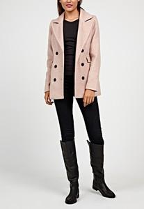Różowy płaszcz Gate w stylu casual