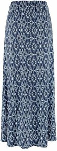 Niebieska spódnica boysen's maxi z dżerseju
