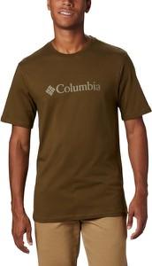 Zielony t-shirt Columbia z krótkim rękawem