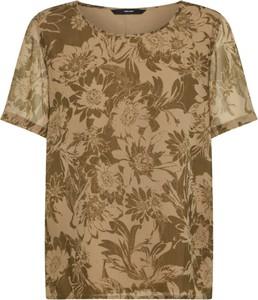 Brązowy t-shirt Vero Moda z krótkim rękawem