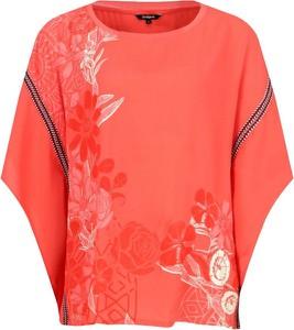 Czerwona bluzka Desigual z krótkim rękawem