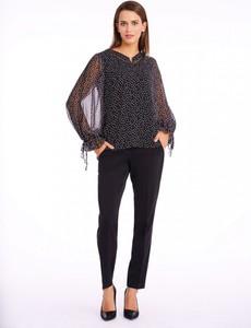 Czarna bluzka POTIS & VERSO z tkaniny