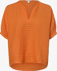 Pomarańczowa bluzka Esprit w stylu casual