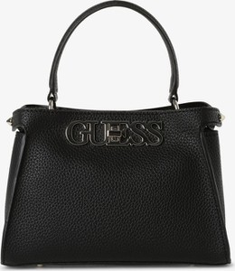 Czarna torebka Guess na ramię duża