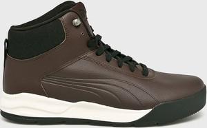 Brązowe buty zimowe Puma sznurowane