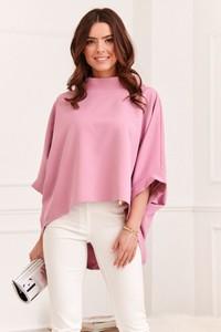 Różowa bluzka Fasardi w stylu casual