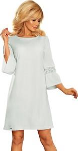 Sukienka NUMOCO z długim rękawem trapezowa mini